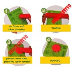 Modelovacia hmota na výrobu zákuskov + bohaté príslušenstvo