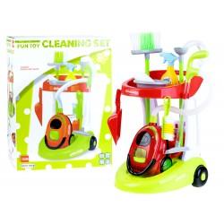 FUN TOY: Detský profesionálny upratovací vozík s vysávačom