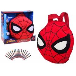 Mäkký plyšový ruksak Spiderman + pastelky