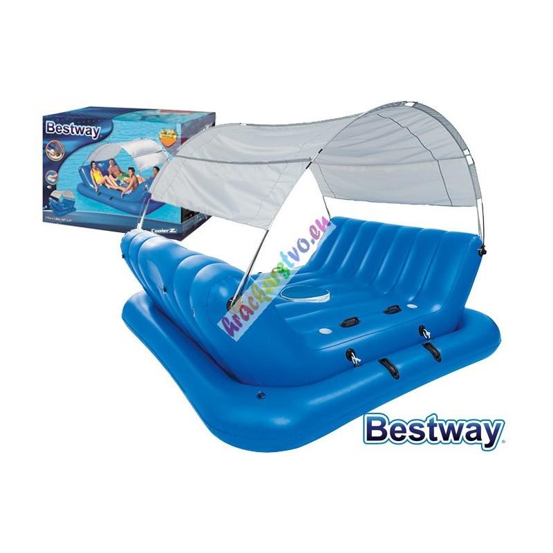 Bestway 43134 luxusný nafukovací ostrov pre 4 osoby 272x196 cm