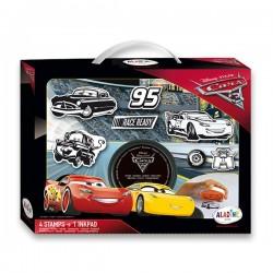 Kufrík s pečiatkami Aladine Stampo - Cars, 6ks