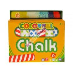 Farebné kriedy 6ks