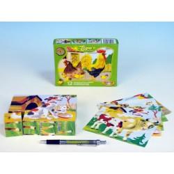 Drevené kocky kubus - Domáce zvieratká