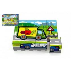 Drevené kocky kubus - Moje prvé auto