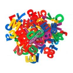 Magnetické písmenka + čísla