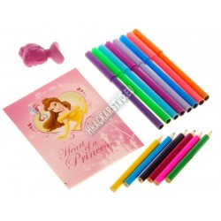 Ruksak Disney - Princess, pastelky, perá, notes...