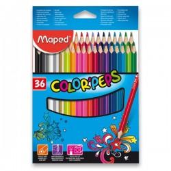 Pastelky MAPED trojhranné 36 farieb