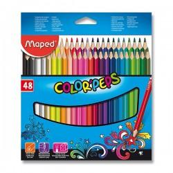 Pastelky MAPED trojhranné 48 farieb