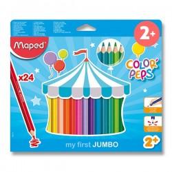 Pastelky MAPED trojhranné JUMBO 24 farieb