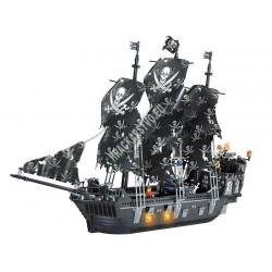 Stavebnica Pirátska loď Čierna perla 74cm, 1184 ks