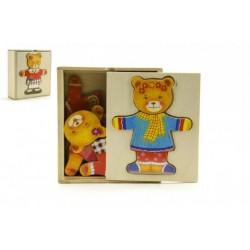 Drevený šatník- Medveď