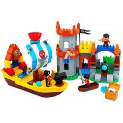 JDLT pirátska stavebnica: pevnosť + loď