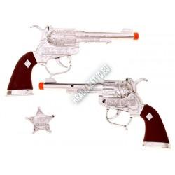 Veľké kovbojské pištole s opaskom, 2 farby