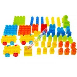 FUNNY BLOCKS – veľké farebné skladačky s nálepkami, 50ks