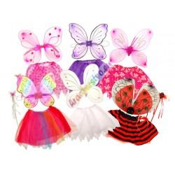 Krídla + sukňa na karneval, 4 farby