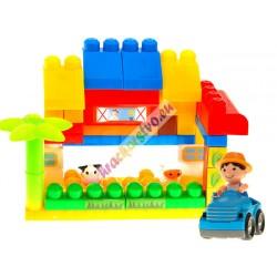 Veľké skladačky 40ks, farma + traktor