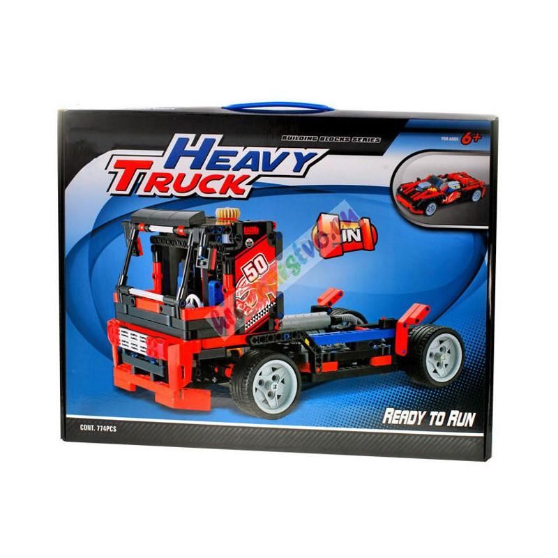 HEAVY TRUC technická stavebnica 2v1, 774 častí