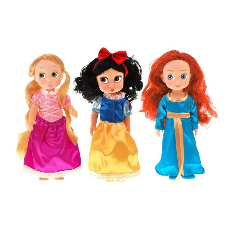 Rozprávková bábika 28 cm, Rapuntzel, Merida, Snehulienka