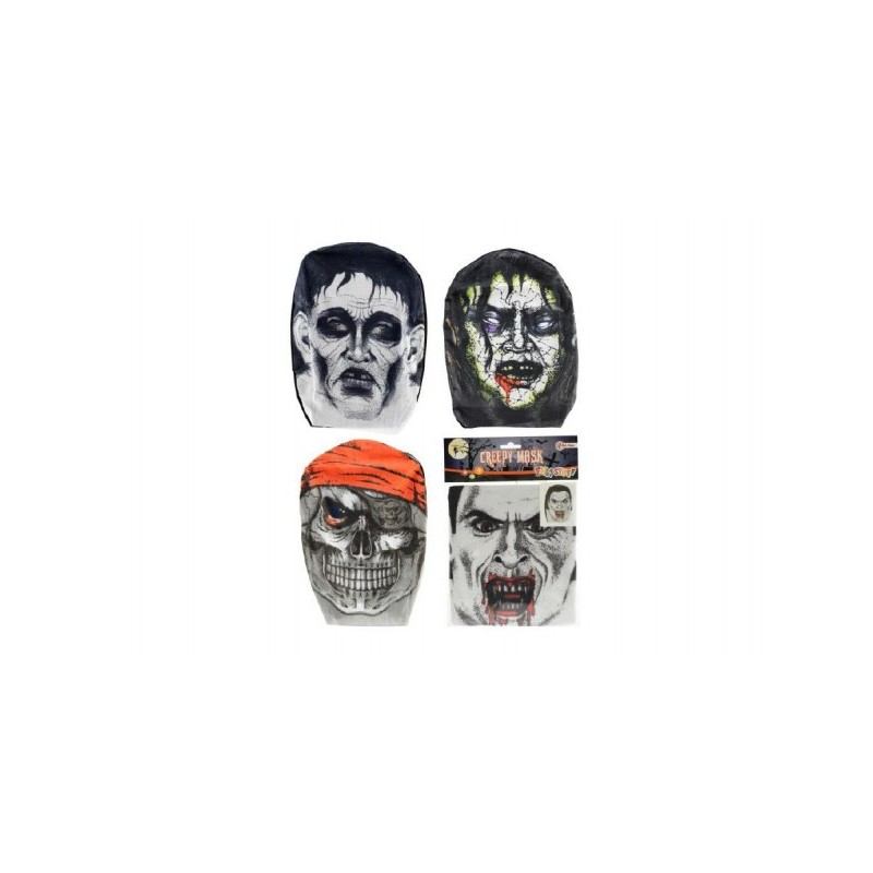 Maska látková, 4 druhy v sáčku 18x26cm karneval