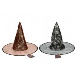 Klobúk čarodejnícky 46cm asst 2 farby karneval