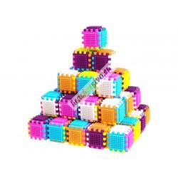 Farebná veľká stavebnica kocky, 54ks