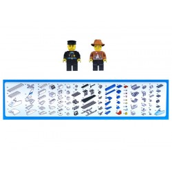 Stavebnica POLÍCIA vrtuľník, 206 dielikov