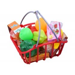 Obchod s regálmi, nákupný košík + pokladňa