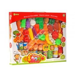 Tovar do obchodu + ovocie a zelenina, 52 ks