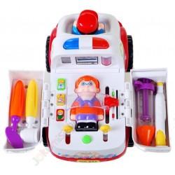 Huile Toys: Sanitka s pacientom a vybavením
