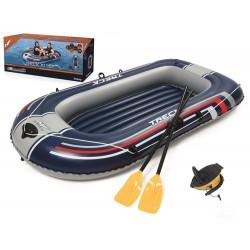 Bestway 61083, nafukovací čln s veslami + pumpa zdarma