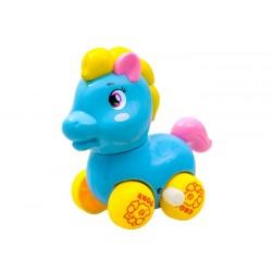 Farebný naťahovací koník s pohyblivým chvostom, 3 farby