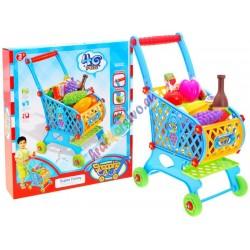 Veľký detský nákupný vozík stovarom, 2 farby