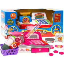 Detská pokladňa sváhou, kalkulačkou abohatým príslušenstvom