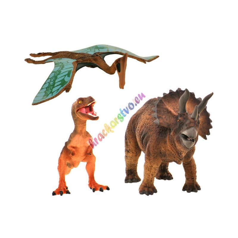 Dinosaury ručne maľované 3 ks