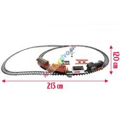 Obrovský dymiaci elektrický vláčik na diaľkové + zvuk