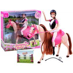 ANLILY Bábika džokejka na koni