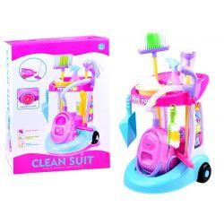 Detský upratovací vozík s príslušenstvom