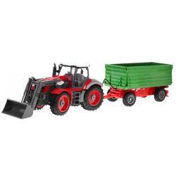 Traktor s vlečkou na diaľkové ovládanie