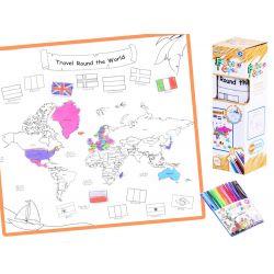 Mapa sveta, zmývateľná