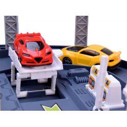 Dráha s odpaľovačom a slučkou + 7 autíčok