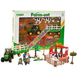 Farma s traktorom, zvieratkami a bohatým príslušenstvom