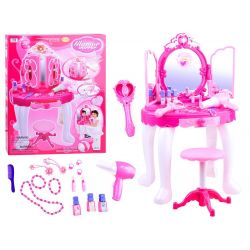Veľký detský toaletný stolík + čarovná palička DO, MP3 a efekty