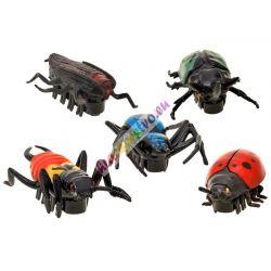 Realistické mini roboty, chrobáky, 5 druhov