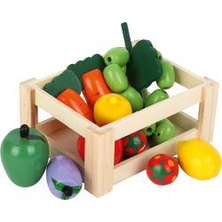 Drevený box so zeleninou