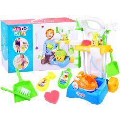Detský upratovací vozík s vysávačom a mopom