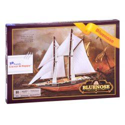 3D puzzle rybárska loď Bluenose, 80 dielov