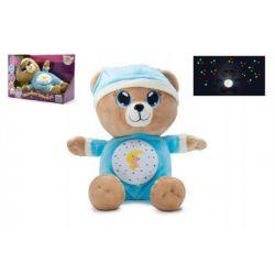 Uspávací medvedík, modrý, 32 cm