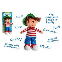 Handrová bábika Honzík, hovorí česky