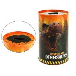 Pokladnička dinosaurus, plech 10 x 15 cm