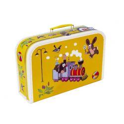 Žltý kufrík Krtko a Mašinka 35x22x10cm